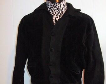 Men's/Women's 1960's Wool and Corduroy Cardigan/Sweater Jacket