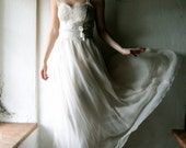Chiffon Wedding dress, Boho wedding dress, Hippie wedding dress, Alternative wedding dress, beach wedding dress, Corset wedding dress, fairy