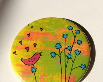 Love Bird Button Magnet