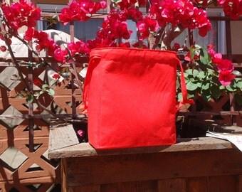 Poppy Fields Knitting Bag