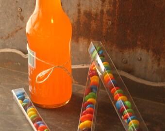 "10 Clear Candy Tubes - Favor Box - 8""  Confetti Box"