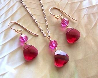Bridal Necklace and  Earrings Set, Swarovski Crystal Bridal Jewelry, Custom Crystal, Wedding Jewelry, Bridesmaids Gift