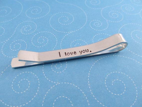 hidden message tie bar personalized tie bar tie by hopeofmyheart