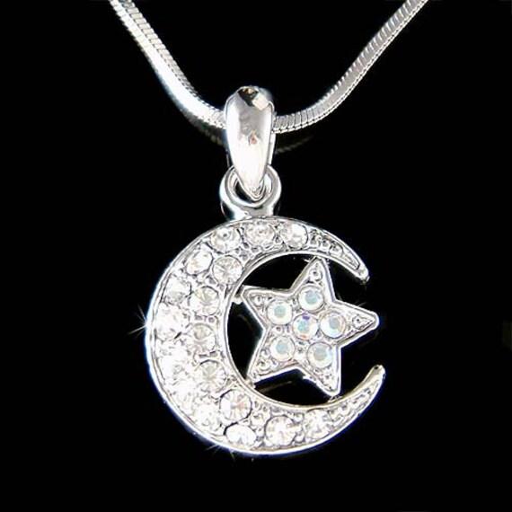 Swarovski Crystal Dream Crescent Moon Wish Wishing Star Islam
