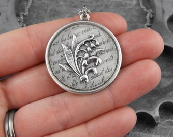 Lily of the Valley Silver Necklace - Fresh Beauty of the Valley by COGnitive Creations