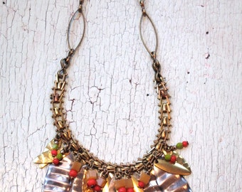 Eco Friendly Necklace - Repurposed Vintage