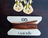 Caramel Copper Ribbon, 5 yards Silky Iridescent Decorative Ribbon, Fancy Gift Wrapping Ribbon, Holiday Gift Wrap