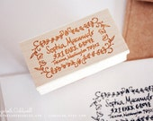 Sophia Custom Hand Drawn 1 x 2 inch Rubber Address Stamp with Decorative Border