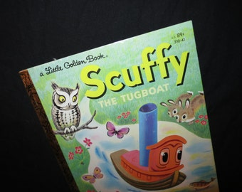 1982 Scuffy the Tugboat Little Golden Book