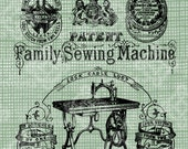 Digital Download Dobson Sewing Machine Ad Antique Illustration, England Advertisement, Vintage drawing,digi stamp, Transfer