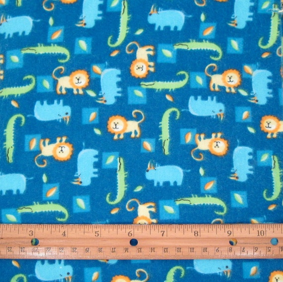 Jungle animal fabric flannel fabric childrens by chaossupplies for Childrens jungle fabric
