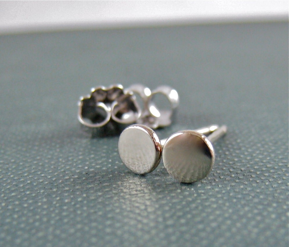 Extra Small White Gold Stud Earrings White Gold Studs Tiny