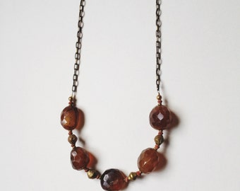 Tahla Necklace w/ Pink Chalcedony