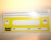 80s Yellow Cassette Mix Blank Tape Stickers Set of Two (2) from Vintage Radio Shack