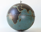 "Vintage Military Globe, Instructional 20"" diameter large globe - bellalulu"