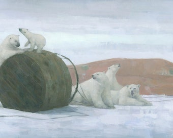 When Worlds Collide, Original Polar Bear Painting