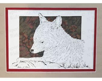 Gray Fox Papercutting, Handcut original