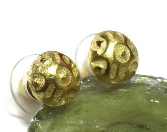Gold Stud Earrings For Women, Gold Post Earrings, Small Gold Ear Studs, Gold Ear Studs for Women, Textured Gold Ear Studs