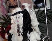 SALE-- SALE  Original Sha Bebe Cloth Doll Made by Cajun Doll Artist, Mary Lynn Plaisance in  Louisiana. Art doll collectibles ~!!!