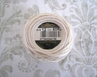 DMC 5201 Ecru Pearl Cotton Balls Size 8