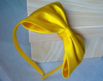 Agnes dupioni silk alice band with large bow