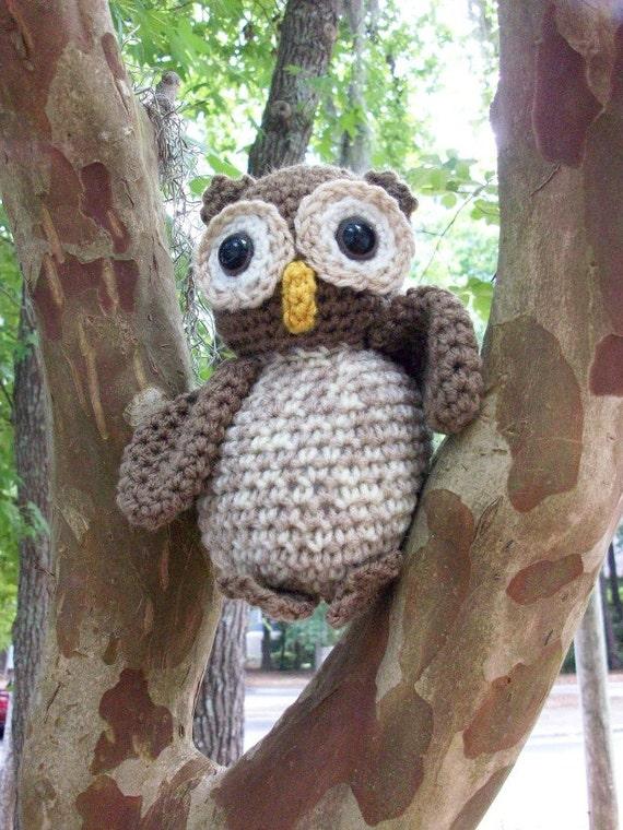 Amigurumi Owl Beak : Oliver Owl A Plush Stuffed Amigurumi Owl Handmade in Crochet