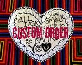 Custom Logo Painted on a Heart Plate
