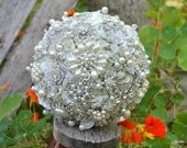 Pearl blossom brooch bouquet -- made to order wedding bouquet
