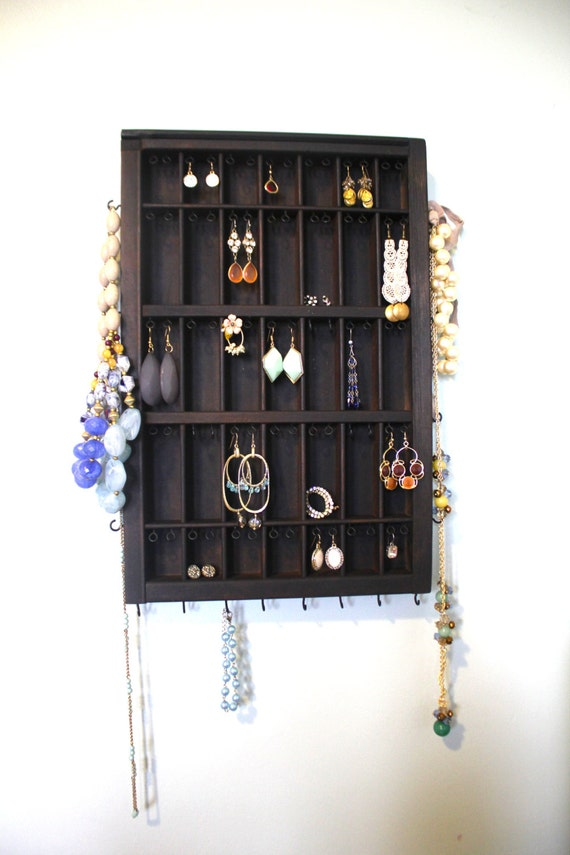 Jewelry Display Dark Wood