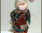 Sticking My Head Out - Mae - Cloth Bunny In Terracotta Pot Decoration