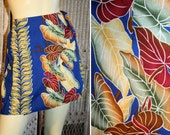 70s Hilo Hattie Skort Hawaiian Sarong Mini Skirt Shorts M/L - MorningGlorious
