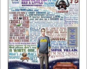 I'm Not Crazy- Sheldon Cooper/Big Bang Theory tribute- signed print