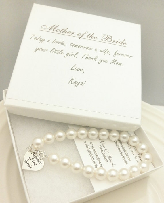 Bridal Gift From Mother: Mother Of The Bride Pearl Strand Bracelet By