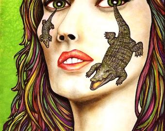 Crocodile Tears - 8x10 archival giclee print