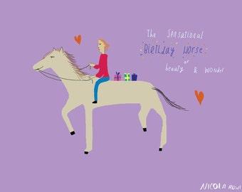 Sensational horse card cc8