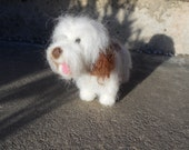 personalized dog art -  needle felted bearded collie - origonal  puppy soft sculpture. - beardie -  small size