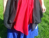 Custom Two Color Renaissance Petal Skirt 6 Points SCA Faire Pagan Wench Gypsy Pixie Fairy