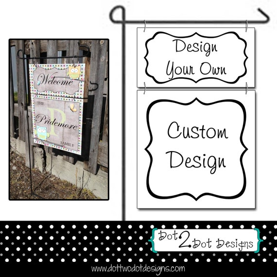 Items Similar To Monogram Personalized Custom Garden