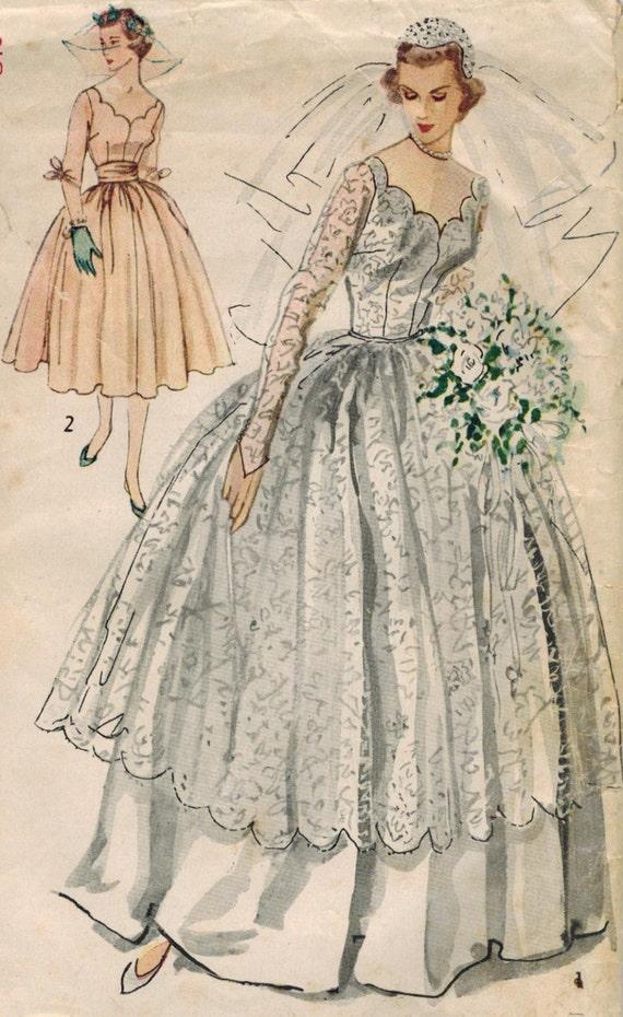 1950s Simplicity 8425 Vintage Sewing Pattern Misses