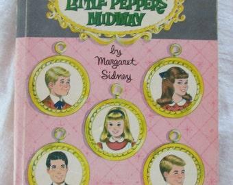 vintage Five Little PeppersMidway CHILDREN'S BOOK --hardcover- 1961