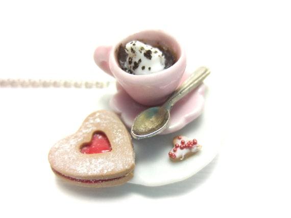 Valentine Heart Cookie Necklace
