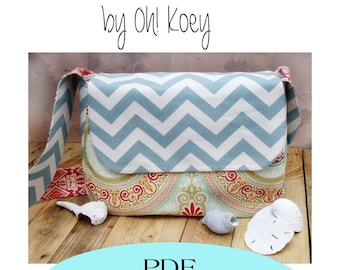 Messenger Bag Pattern, Diaper Bag Pattern PDF Sewing Pattern Ebook Sewing Tutorial DIGITAL FILE