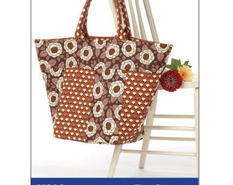 The Shopper Tote Bag Digital Sewing Pattern PDF - create this oversized totebag for carrying groceries, knitting or other projects on the go