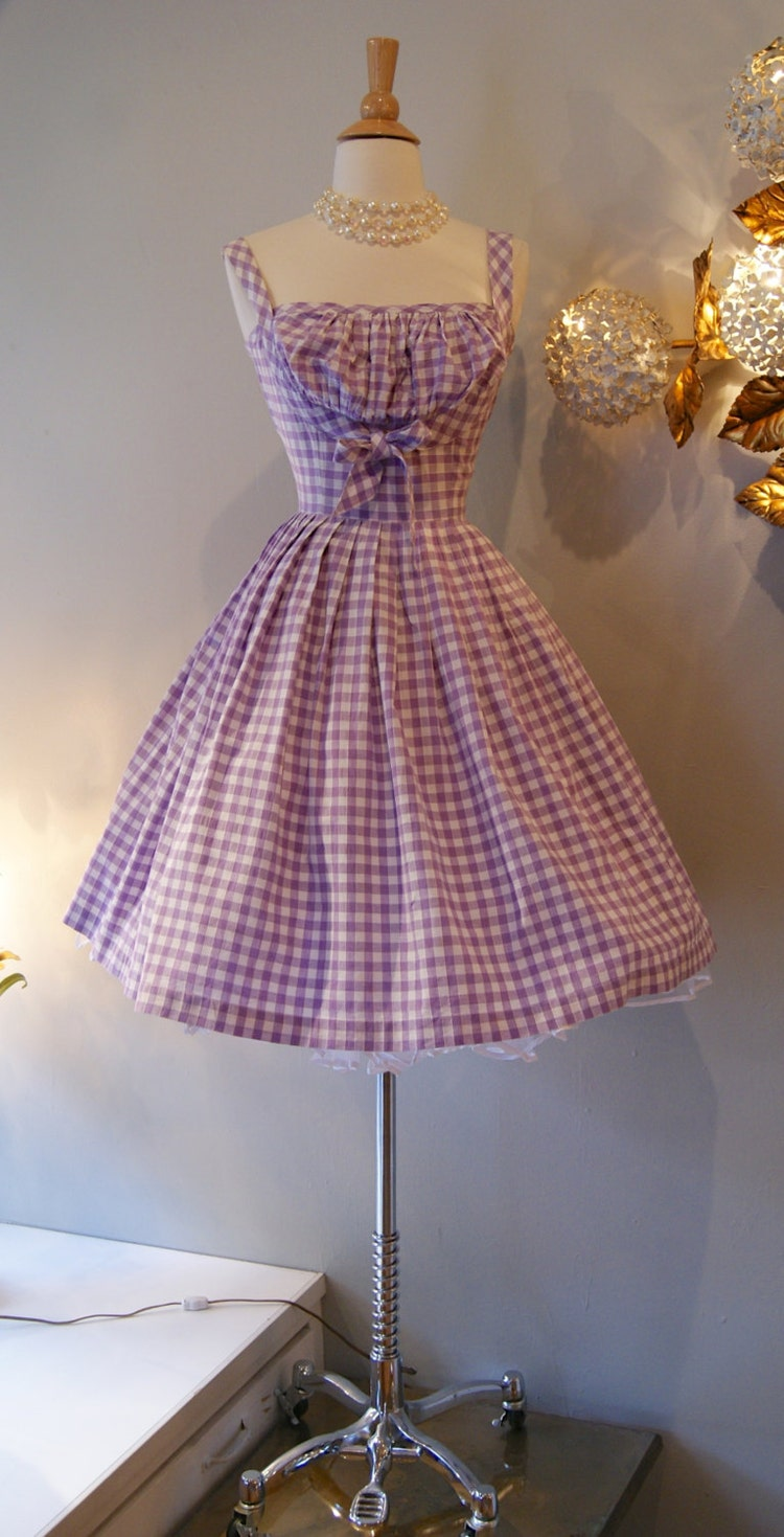 50s Dress Vintage 1950s So Cute Gingham Dress By