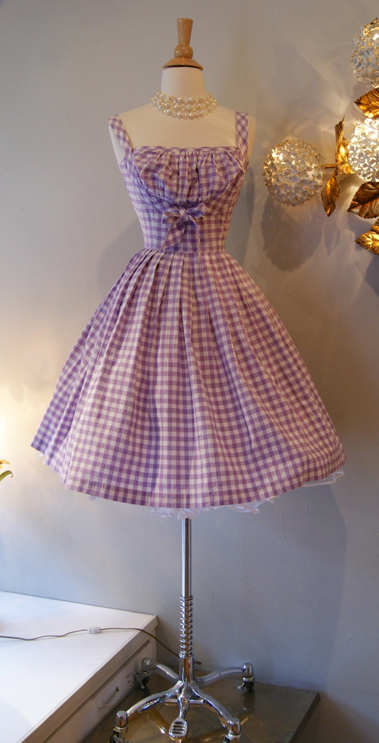 50s Dress Vintage 1950s So Cute Gingham Dress