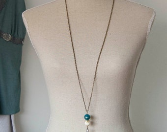 Robyn - beaded long length necklace