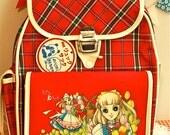 Custom Order for Megan Vintage Showa Era 70s Retro Cheiko Hosokawa Plaid Childs Backpack Unused