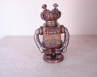 Steampunk Robot Jar
