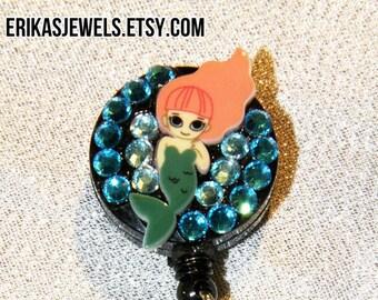 Mermaid ID Badge Holder