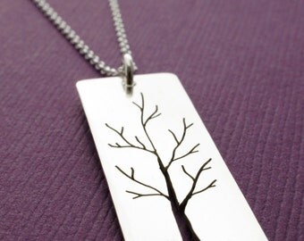Woodland Tree Pendant - Tree of Life in Sterling Silver - Oak Tree Pendant by Eclectic Wendy Designs - Nature Inspired Gift
